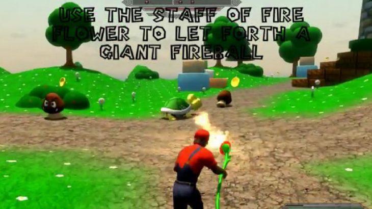 Super Skyrim Bros. Mario në Elder Scrolls
