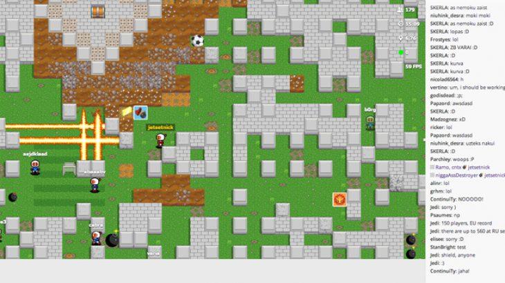 Luani Bomberman në shfletues bashkë me 1000 të tjerë