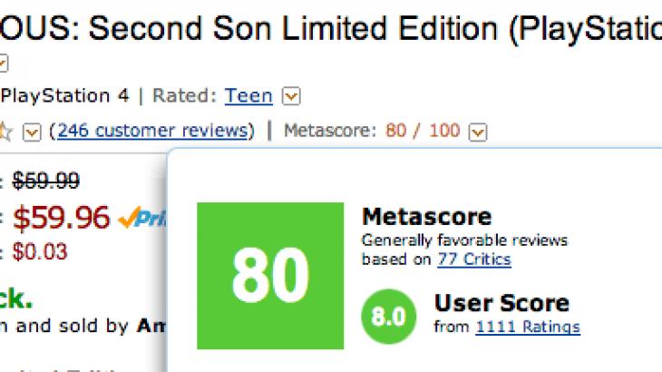 Amazon shton vlerësimet e Metacritic në faqen e blerjes së lojërave