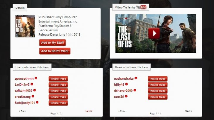 SwapFu është faqe që ju mundëson të tregtoni video lojërat me përdoruesit e tjerë