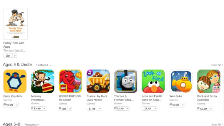 """App Store shton edhe seksionin e ndarë në grupmosha """"Lojëra për Fëmijë"""""""